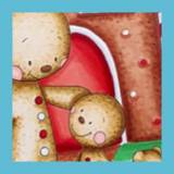 Gingerbread Scene | Showcasing Gingerbread Family