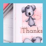 Koala Thank You Card | Showcasing Koala Digital Stamp set