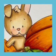 Pumpkin Time | Showcashing Rabbit Among Pumpkins