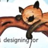 Never Too Old Card   Showcasing Cat Playing Yoyo on a Branch