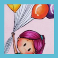 Pretty Pink   Showcasing Girl and Balloons