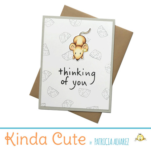 Thinking of you card with a mouse. h273