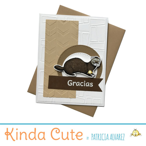 Thank you card in Spanish with a ferret. h288