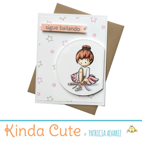 Encouragement card for ballerinas in Spanish. h292