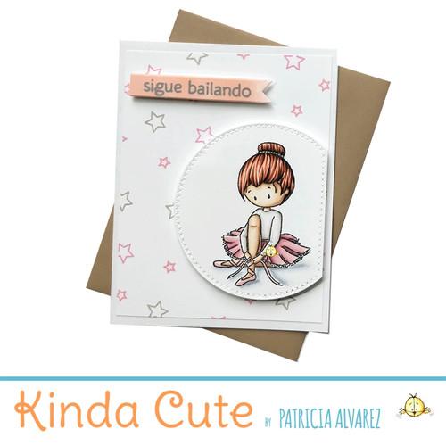 Encouragement card for ballerinas in Spanish. h292