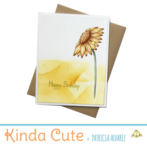 Birthday card with a sunflower. h294