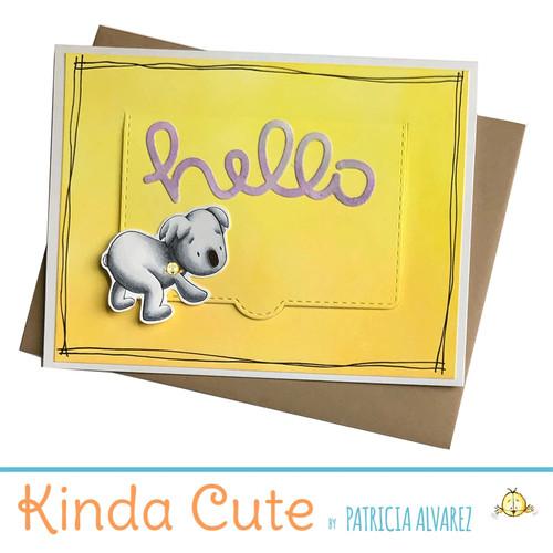 Hello card with a koala. h301