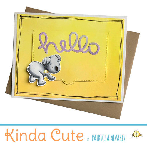 Hello card with a koala. h301
