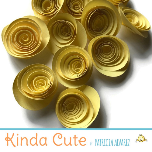 Small pale yellow paper flowers. Set of 24.