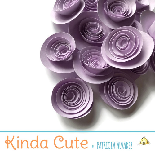 Small lavender paper flowers. Set of 24.