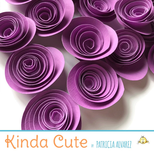 Small planetary purple paper flowers. Set of 24.