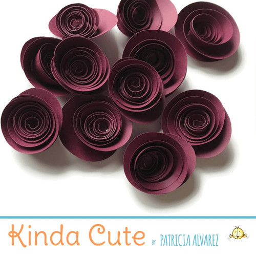 Small wine paper flowers. Set of 24.