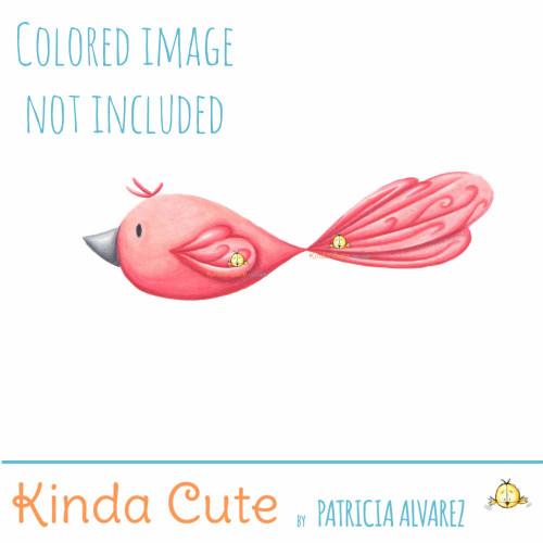 Lovebird Digital Stamp
