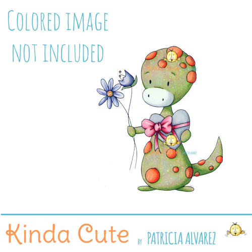 Valentine's lizard digital stamp. Black and white only. Colored for reference only.