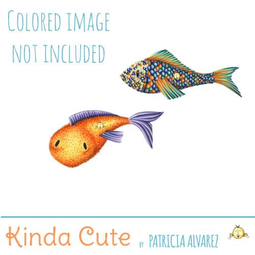 Fish Set Digital Stamp
