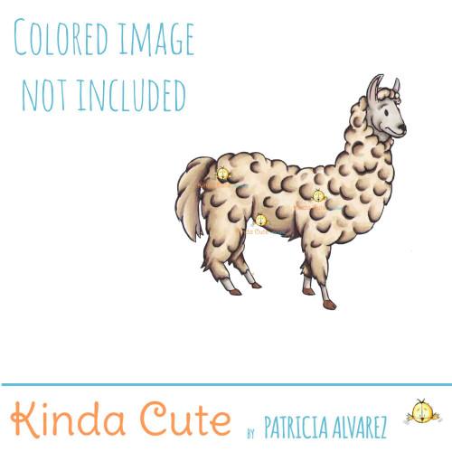 Llama Digital Stamp