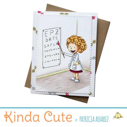 Handmade card with an eye doctor