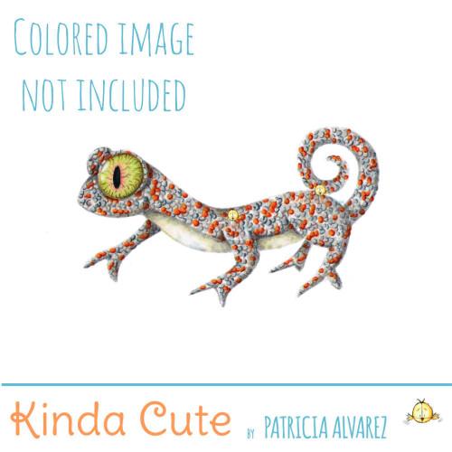 Gecko Digital Stamp