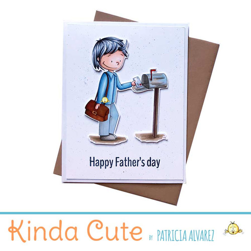 Father's day card with a postal worker illustration. One of a kind.