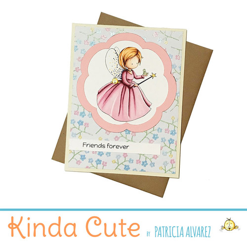 Friends forever fairy card