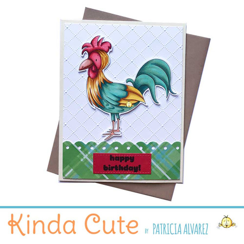 Rooster birthday card. h337