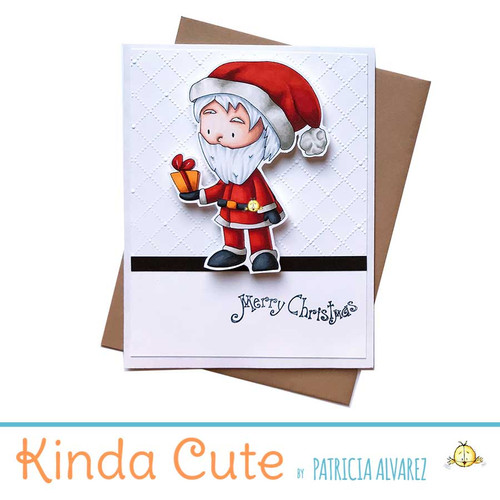 Christmas card with Santa. h339