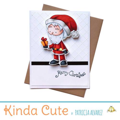 Christmas card with Santa. h339