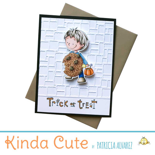 Halloween card with a cookie boy. h345