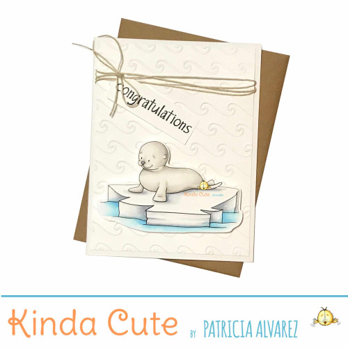 New baby congratulations seal handmade card