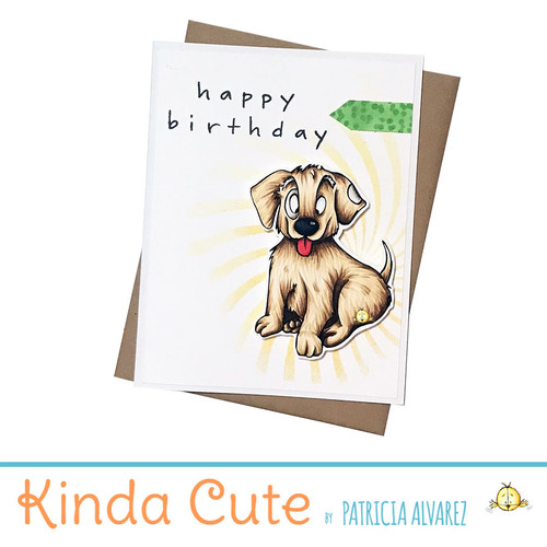 Birthday card with a puppy. h351