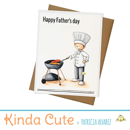 Chef barbecue Happy Father's Day card. h355