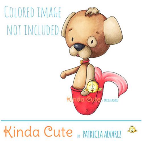 Mermaid Dog Digital Stamp