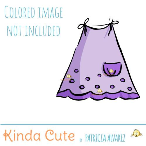 Baby Dress Digital Stamp