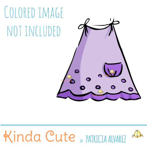 Baby Dress Digital Stamp