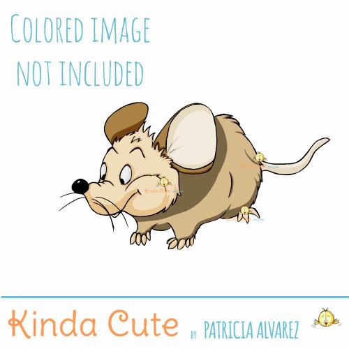 Mouse Digital Stamp