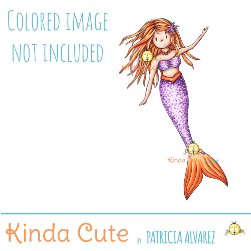Mermaid digital stamp