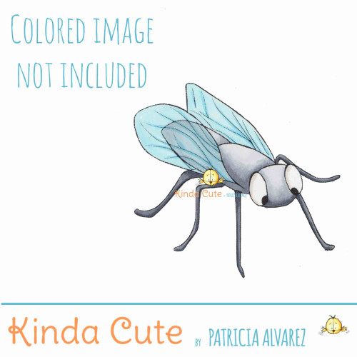 Digital stamp of a domestic fly.