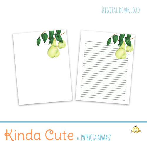 Pears stationery paper.