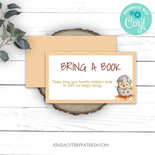 Bring a book editable printable file
