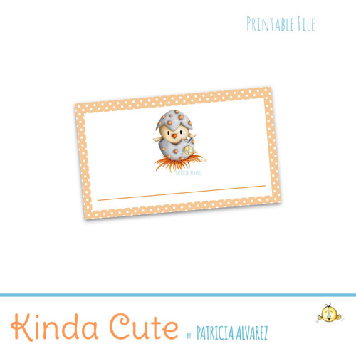 Folded little bird printable place cards