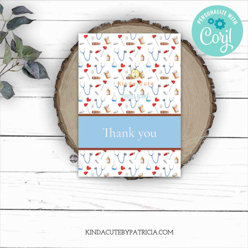 Thank you card for doctors