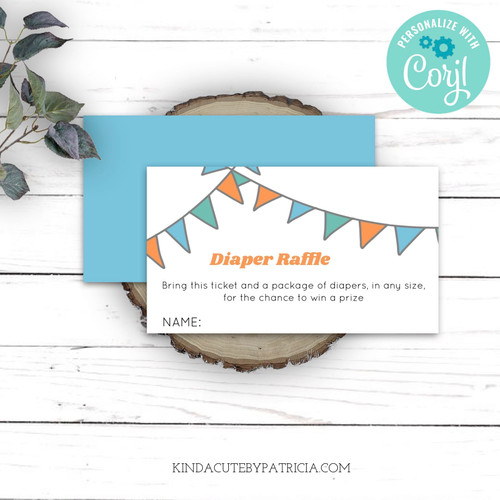Diaper raffle printable ticket