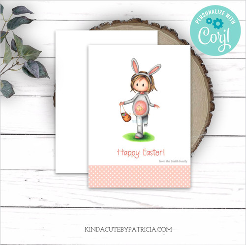 Personalized printable easter card