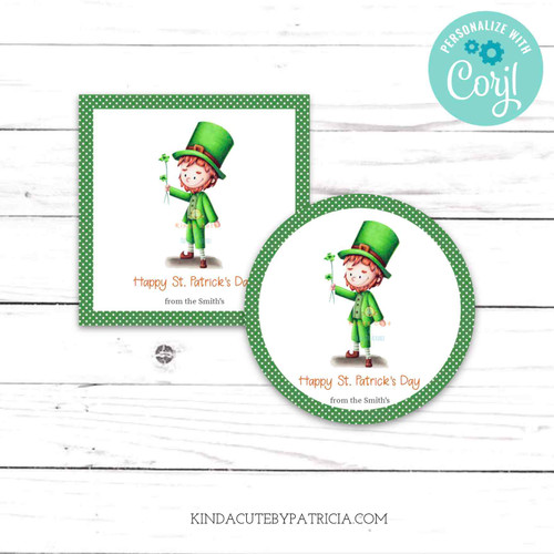 Personalized Happy St. Patrick's Day with a Leprechaun