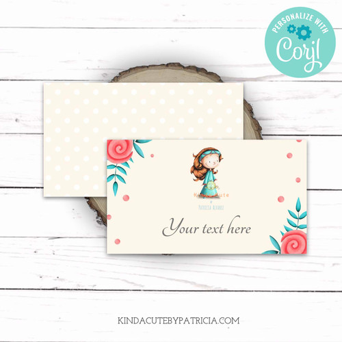 Personalized Little Medieval Princess Place Cards