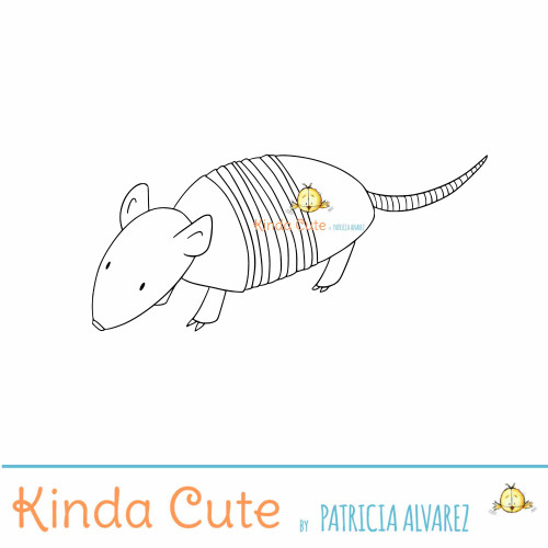 Armadillo digital stamp