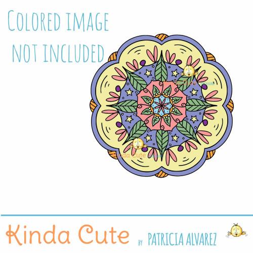 Floral Mandala Digital Stamp