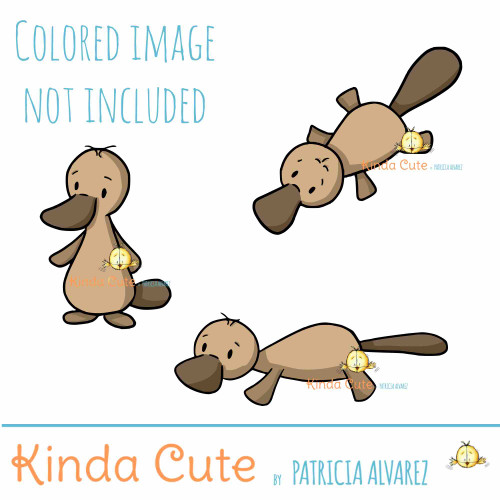 Platypus Digital Stamp set