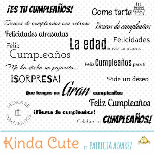 Sellos digitales de cumpleaños en Español