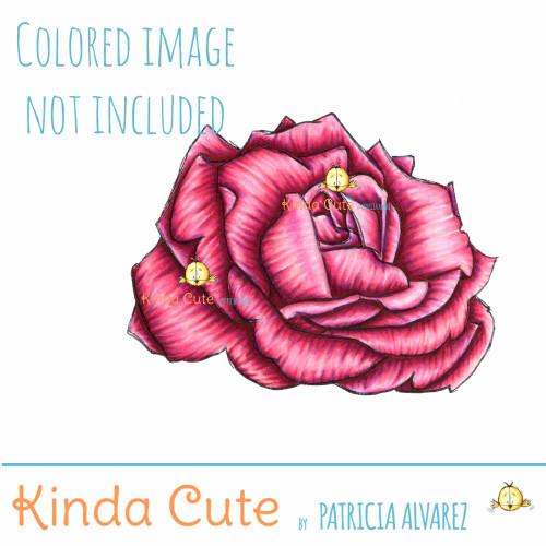 Rose Digital Stamp